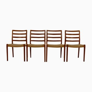 Teak Dining Chairs by Niels Otto Møller for J.L. Møllers, 1960s, Set of 4