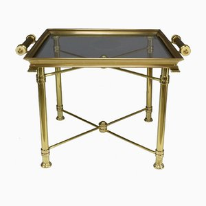 Vintage French Brass Side Table from Maison Baguès, 1980s