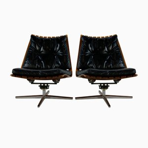Lounge Chairs by Hans Brattrud for Hove Møbler, 1960s, Set of 2