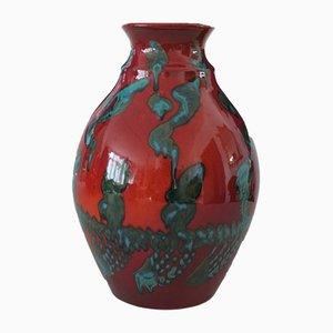 Italienische Vintage Keramikvase von Gaetano Fichera, 1980er