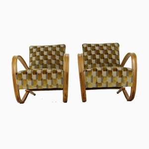 Lounge Chairs by Hallabala for Thonet, 1940s, Set of 2