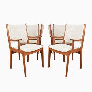 Dänische Mid-Century Esszimmerstühle aus Teak von Johannes Andersen für Uldum Møbelfabrik, 1960er, 6er Set