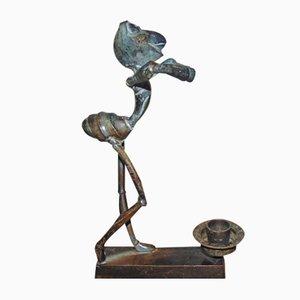 Bronze Candleholder, 1980s
