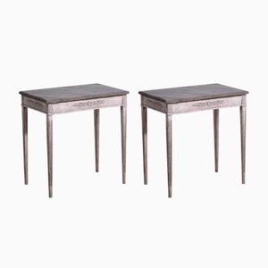 19th Century Gustavian Style Console Tables, Set of 2