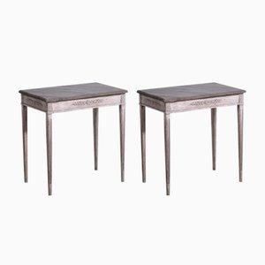Tables Console Style Gustavien 19e Siècle, Set de 2