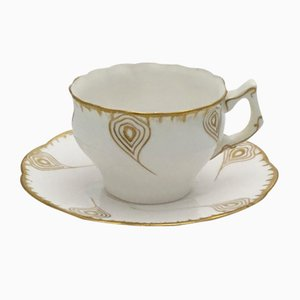 Antique Art Nouveau French Coffee Cup and Saucer Set from Utzschneider
