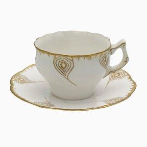 Set de Tasses à Café et Tasses Anciennes Art Nouveau d'Utzschneider, France