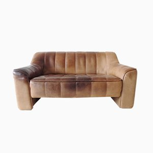 Model DS44 2-Seater Leather Sofa from de Sede, 1970s