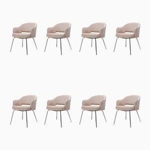Sillas de comedor de Eero Saarinen para Knoll Inc. / Knoll International, años 40. Juego de 8