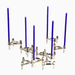 Candleholders by Fritz Nagel for BMF, 1960s, Set of 10