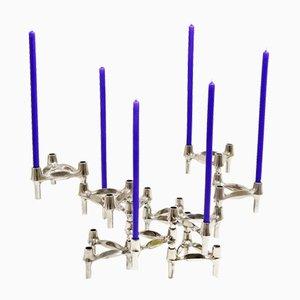 Kerzenständer von Fritz Nagel für BMF, 1960er, 10er Set