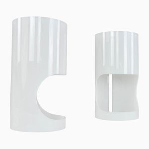 White Lucite Table Lamps by Joan Antoni Blanc for Tramo, 1960s, Set of 2
