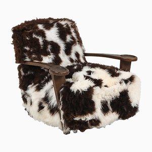 Woolen Lounge Chair from De Coene, 1950s