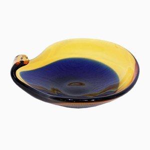 Cuenco de cristal de Murano, años 60