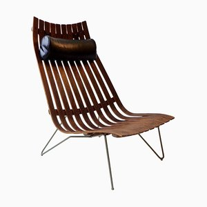 Rosewood Lounge Chair by Hans Brattrud for Hove Møbler, 1950s