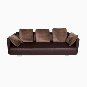Vintage Dark Brown Leather Model 6300 Sofa from Rolf Benz