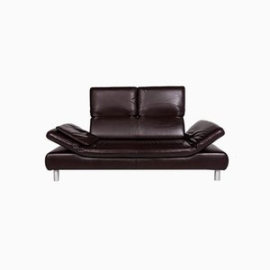Vintage Brown Leather 2-Seater Sofas from Koinor, Set of 2