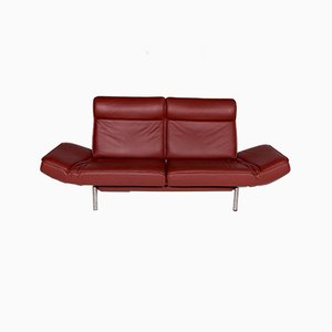 Vintage Red Leather Model DS 450 Sofa by Thomas Althaus for de Sede