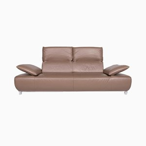 Vintage Brown Leather 3-Seater Sofa from Koinor