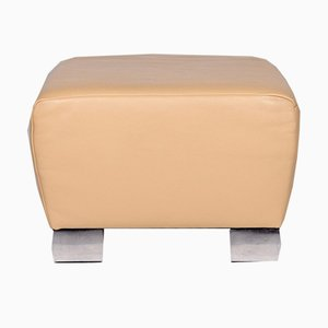 Vintage Beige Leather Ottoman from Koinor