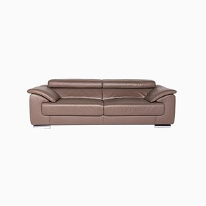 Vintage Brown Leather 3-Seater Sofa from Ewald Schillig