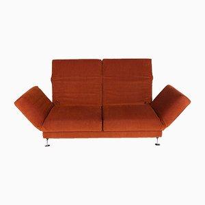 Vintage 2-Sitzer Sofa mit orangenfarbenem Stoffbezug von Roland Meyer-Brühl für Brühl & Sippold