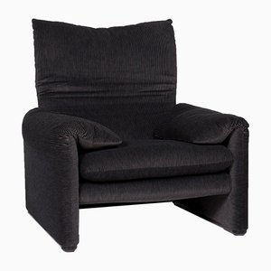 Vintage Gray Fabric Armchair from Cassina