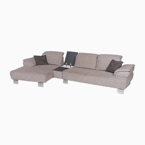 Vintage Gray Fabric Corner Sofa and Footstool Set from Musterring