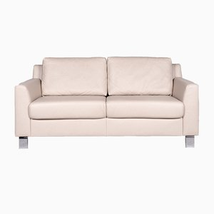 Vintage Cream Leather 2-Seater Sofa from Ewald Schillig