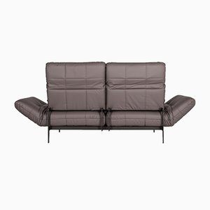Vintage Gray Leather 2-Seater Sofa from Rolf Benz