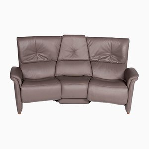 Vintage Gray Leather 2-Seater Sofa from Himolla