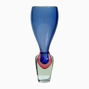 Jarrón de cristal de Murano de Da Ros Antonio para Cenedese, años 60