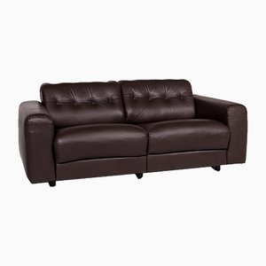 Vintage Brown Leather Sofa from De Sede