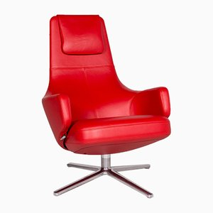 Vintage Repos & Panchina Leather Lounge Chair from Vitra