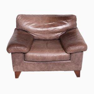 Vintage Leather Armchair by Teun van Zanten