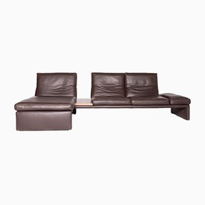 Vintage Leather Corner Sofa from Koinor