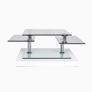 Vintage Glass & Chrome Coffee Table from Hülsta