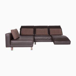 Vintage Leather Corner Sofa by Roland Meyer-Brühl