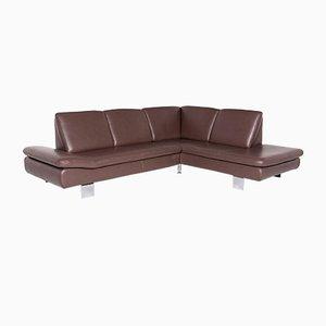 Vintage Leather Corner Sofa from Willi Schillig