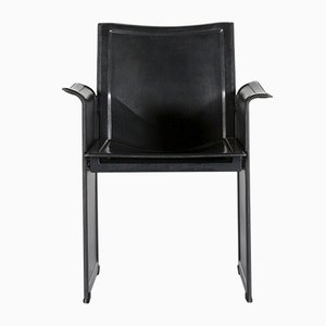 Vintage Leather Armchair by Tito Agnoli