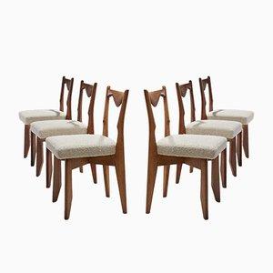 Sedie da pranzo di Guillerme et Chambron, anni '60, set di 6