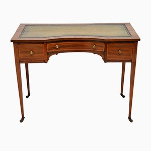 Antique Edwardian Inlaid Mahogany Desk