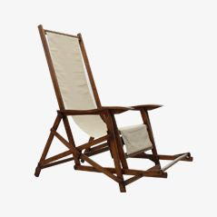 Art Nouveau Italian Deck Chair, 1920s