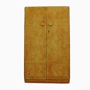 Armario Art Déco de madera nudosa de nogal, años 20