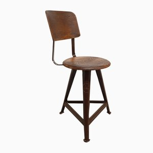 Industrial Stool from Rowac, 1930s