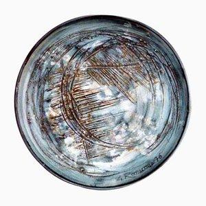 Gres Teller aus Kunstkeramik von Giuseppe Rossicone, 1970er