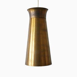 Lampe à Suspension Mid-Century en Laiton, Allemagne, années 50