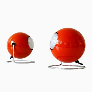 Mid-Century German Metal Model Eye Table Lamps from Erco, 1960s, Set of 2