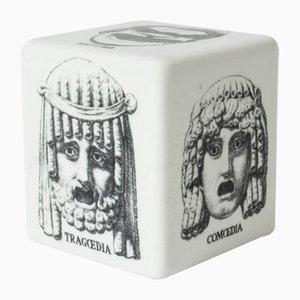 Fermacarte in ceramica di Atelier Fornasetti per Fornasetti, anni '50