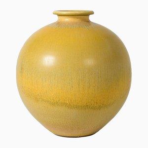 Vase en Grès Jaune par Berndt Friberg pour Gustavsberg, années 50